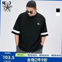 T-shirt Youth fashion E35-i-black, e78-q-white thin XL,2XL,3XL,4XL,5XL,6XL,7XL Others Short sleeve Crew neck easy daily summer Large size routine Chinese style Assembly cotton Designer brand 50% (inclusive) - 69% (inclusive)