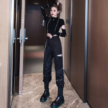 Fashion suit Spring 2021 S M L 63653 black single top 63654 black single pants 63653 black top + 63654 black pants = suit Bart cat 63652-Z 91% (inclusive) - 95% (inclusive) polyester fiber New polyester fiber 95% polyurethane elastic fiber (spandex) 5% Pure e-commerce (online only)