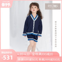 trousers erdos KIDS female 110cm 120cm 130cm 140cm 150cm Deep royal blue spring and autumn shorts princess There are models in the real shooting Casual pants Leather belt middle-waisted cotton Don't open the crotch Cotton 100% K415F1201 Class B Spring 2021
