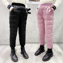 trousers Princess Tangyi female winter trousers Korean version Combat trousers There are models in the real shot middle-waisted Leather belt polyester Xey pocket rabbit cotton trousers Class B 3 months Chinese Mainland Pink Pocket rabbit, Black Pocket rabbit