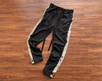 Casual pants Others Youth fashion black S,M,L,XL routine trousers motion Straight cylinder Micro bomb Four seasons 2020 middle-waisted Straight cylinder Alphanumeric cotton Hemp cotton