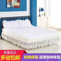 Bed skirt 100cmx200cm,120cmx200cm,135cmx200cm,150cmx200cm,180cmx200cm,200cmx200cm,200cmx220cm polyester fiber White pattern 1, beige pattern 1 Other / other Plants and flowers Qualified products