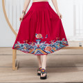 skirt Summer 2020 Average size Black, red, navy longuette commute A-line skirt Type H 18-24 years old 81% (inclusive) - 90% (inclusive) other hemp Embroidery ethnic style