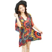 Beach coat Dark red pebble, lotus root, black lotus, blue red tent, black pink elephant, orange sunflower, blue lotus, red cashew, pink sunflower, white yellow pattern, coffee geometry, yellow sunflower, geometric red, black red thread, color diamond Average size Other / other