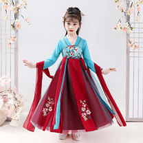 Dress female Xuanweini 110cm,120cm,130cm,140cm,150cm,160cm Polyester 100% spring and autumn princess Long sleeves Broken flowers other A-line skirt Class B Chinese Mainland Guangdong Province Shantou City