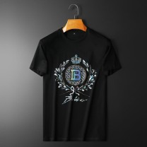 Sports T-shirt Other / other M,L,XL,2XL,3XL,4XL Short sleeve male Crew neck ZM9803749 White, black, army green, sapphire blue Self cultivation Ultra light and elastic Summer 2021 Pattern, offset printing Sports & Leisure Sports life cotton