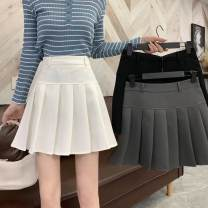 shirt White black grey XS S M L Spring 2021 other 96% and above Short sleeve commute Regular stand collar routine Solid color 18-24 years old Straight cylinder Zhixi (dress) Korean version 68588O6x PU Pure e-commerce (online only)