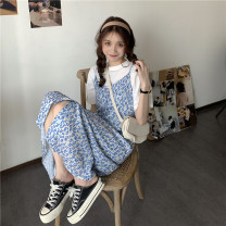 Fashion suit Spring 2021 Average size White T-shirt, floral skirt Other / other 1125#