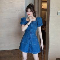 Jeans Spring 2021 Picture color S,M,L shorts High waist Jumpsuit 18-24 years old a1.5 Ocnltiy 31% (inclusive) - 50% (inclusive)