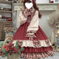 Dress Winter 2020 Berry girl OP skirt berry girl OP skirt + headdress berry girl OP skirt + headdress + skirt support berry girl OP skirt + headdress + skirt support + socks + shoes S M L Middle-skirt Two piece set Long sleeves Sweet Crew neck middle-waisted other Socket Princess Dress other Others