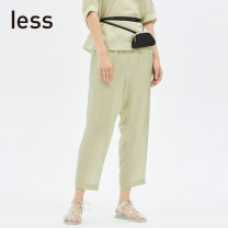 Casual pants 373 / light mustard green 409 / Tibetan green XS S M L XL Summer 2020 Ninth pants Straight pants Natural waist commute routine 30-34 years old 96% and above 295320840-486011 LESS Simplicity Regenerated cellulose fiber 100% Pure e-commerce (online only)