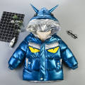 Cotton padded jacket male No detachable cap polyester Other / other Blue, black, red and silver The recommended height is 90-100cm for 100, 100-110cm for 110, 110-120cm for 120, 115-125cm for 130 and 125-135cm for 140 thickening Zipper shirt leisure time Cartoon animation cotton 2 years old