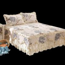 Bed skirt 150x200 single bed skirt, 180x200 single bed skirt, 180x220 single bed skirt, 200x220 single bed skirt, [a pair of pillow cases] (single shot), 200x230 quilt cover, 220x240 quilt cover, 120x200 single bed skirt cotton Jiuzhou Island Plants and flowers Qualified products dst483
