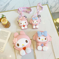 Bag Inclined shoulder bag silica gel other Other / other brand new Japan and South Korea large leisure time soft zipper yes Cartoon animation Single root Inclined shoulder bag Yes juvenile Macaroon Soft handle set-in pocket