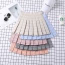 skirt Autumn of 2019 XS,S,M,L,XL,XXL Short skirt fresh High waist Pleated skirt lattice Type A 18-24 years old 91% (inclusive) - 95% (inclusive) Other / other polyester fiber