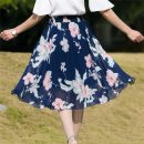 skirt Summer of 2019 Average weight 80-145 Jin Versatile High waist A-line skirt Type A 25-29 years old 81% (inclusive) - 90% (inclusive) Chiffon other printing