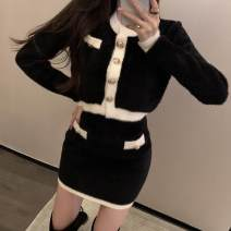 Outdoor casual clothes Tagkita / she and others female fifty-nine point six zero Black jacket, black skirt, black jacket + black skirt, khaki pink jacket, khaki pink skirt, khaki pink jacket + Khaki pink skirt, collection plus purchase, priority delivery Under 50 yuan S,M,L,XL,2XL other Long sleeves