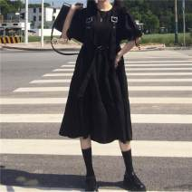 Outdoor casual clothes Tagkita / she and others female fifty-nine point six zero Black [pay attention to the shop to send small gifts] [no matching, black [pay attention to the shop to send small gifts] [matching, collection and purchase priority delivery Under 50 yuan S,M,L,XL,2XL other Summer 2020