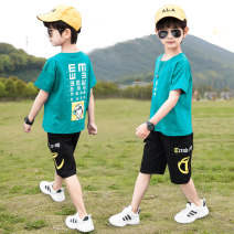 suit Pinbalabala Green, blue, 20b21 red 110cm,120cm,130cm,140cm,150cm,160cm,170cm male summer Korean version Short sleeve + pants 2 pieces routine There are models in the real shooting Socket nothing Cartoon animation other children OFFTZ Class B Other 100% Chinese Mainland Shandong Province