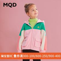 Plain coat MQD female 120cm,110cm,150cm,160cm,130cm,140cm Tmall carefree, ska, cherry blossom No season leisure time Zipper shirt There are models in the real shooting routine No detachable cap G20330625 Polyester 100% Class C