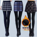 Leggings Autumn 2020 Black and white plaid stitching, blue stitching, fake two pieces (black pants), fake two pieces (Caramel pants), 02 suspenders, 02 black and white fishtail skirt, 02 blue four deduction, 02 gray four deduction, 02 black four deduction XL,2XL,3XL,L,M routine trousers C68814 other