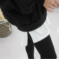 skirt Winter 2020 L [110-130 kg], XL [130-150 kg], 2XL [150-180 kg], m [90-110 kg] 4556 ᦇ white arc version, 4557 ᦇ white split, 4558 ᦇ white hole, pure white Short skirt Versatile High waist Irregular Solid color Type H 30-34 years old Q35492 other Other / other cotton Lotus leaf edge