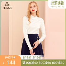 skirt Autumn of 2019 155/XS 160/S 165/M 170/L Navy / 59 Short skirt Versatile Natural waist A-line skirt Type A 25-29 years old More than 95% E·LAND other Open line decoration Other 100%