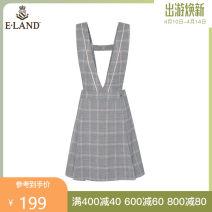 Dress Summer 2020 155/XS 160/S 165/M 170/L Short skirt singleton  Sleeveless V-neck lattice A-line skirt straps 25-29 years old E·LAND straps More than 95% other Other 100%