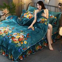 Bedding Set / four piece set / multi piece set Polyester (polyester fiber) other Plants and flowers Ferret Other / other Polyester (polyester fiber) 4 pieces Ferret 1.8m bed (quilt cover size 200cm * 230), 2.0m bed (quilt cover size 220cm * 240), 1.5m bed (quilt cover size 200cm * 230C) other