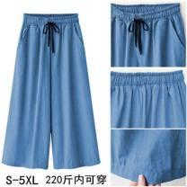 Jeans Spring 2021 Light blue, dark blue M,L,XL,3XL,4XL,5XL,S,XXL Cropped Trousers High waist 30% and below