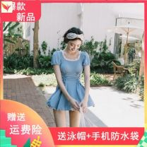 one piece  Other brands No chest pad female Short sleeve Casual swimsuit
