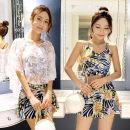 Split swimsuit Other brands White, black, dark green, 671 noble black, 671 elegant powder, 671 fresh white, lake blue, a, B, C, D, e, f M (80-98 Jin), l (98-108 Jin), XL (108-118 Jin), 2XL (118-128 Jin) Skirt split swimsuit Steel strap breast pad Spandex, polyester, others