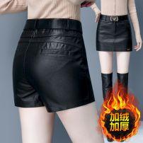 skirt Spring 2020 S/26,M/27,L/28,XL/29,XXL/30,3XL/31 Black (regular), black (plush) Short skirt Versatile High waist skirt Solid color 20181- 81% (inclusive) - 90% (inclusive) Filiform flower Viscose