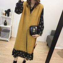glove other Black dress , Black dress + Sweater vest skirt S,M,L,XL F1134807 Other