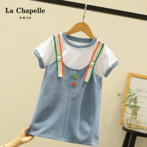 T-shirt blue Other / other 110cm,120cm,130cm,140cm,150cm,160cm female summer Short sleeve leisure time No model nothing other other Cotton 73.1% polyester 24.8% others 2.1% Class B Three, four, five, six, seven, eight, nine, ten, eleven, twelve