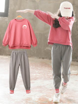suit Other / other chinese red 110cm,120cm,130cm,140cm,150cm,160cm,170cm female spring and autumn Korean version Long sleeve + pants 2 pieces routine There are models in the real shooting Socket nothing other other children Giving presents at school LF—9QT1 Class B Other 100%