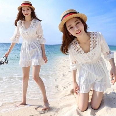 Beach coat white M,L,XL