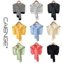 Scarf / silk scarf / Shawl Wool spring and autumn female Shawl multi-function Korean version triangle student stripe Other 19SJ957