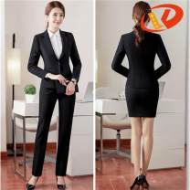 Professional pants suit S,M,L,XXL,XXXL,XL,4XL Autumn of 2018 loose coat Long sleeves trousers Other / other