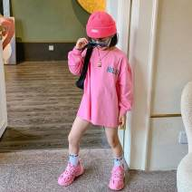 Family clothes for parents and children 100#/5#,110#/7#,120/9#,130/11#,140/13#,150/15#,160/17# other White, pink, orange, collection plus purchase priority delivery