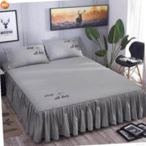 Bed skirt 120cmx200cm,150cmx200cm,180cmx200cm,200cmx220cm,180cmx220cm cotton Other / other Solid color First Grade