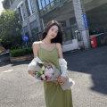 Dress Spring 2011 Pink, black, green S,M,L,XL longuette Sleeveless 18-24 years old Bow, asymmetric ZB170X1518#01 Silk and satin polyester fiber
