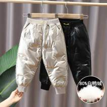 trousers Tong Tong's Diary male 120cm,110cm,100cm,90cm,140cm,130cm Black Tongliang down pants, apricot Tongliang down pants winter trousers Korean version No model Down pants Leather belt middle-waisted chemical fiber Open crotch Class B Chinese Mainland Zhejiang Province Huzhou City