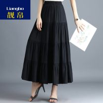 Parent child fashion Black, off white, dark green, denim blue, turquoise, leather pink other female Other / other One size elastic waist (suitable for 90 to 145 kg) See description Versatile Solid color Chiffon LB20051309 12 months