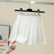 skirt Summer 2021 S,M,L,XL White, gray, black Short skirt Versatile High waist A-line skirt letter Type A 18-24 years old 30% and below other Ocnltiy other