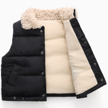 Vest neutral Cream thickened, cream thickened, black thickened, peanut red thickened, yellow thickened, black thickened, red thickened Other / other No season thickening There are models in the real shooting Single breasted Korean version polyester fiber Solid color Class C Silk floss Cotton liner
