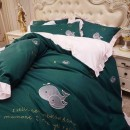 Bedding Set / four piece set / multi piece set spandex Quilting Plants and flowers 128x68 Other / other cotton 4 pieces 40 Sheet type Qualified products Princess style 100% cotton plain cloth Reactive Print  B56212 Thermal storage