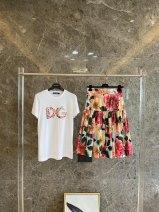Fashion suit Spring 2021 S,M,L White T, half skirt