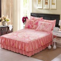 Bedding Set / four piece set / multi piece set cotton Quilting Plants and flowers 128x68 Other / other cotton 4 pieces 1.5m (5 ft) bed, 1.8m (6 ft) bed, 2.0m (6.6 ft) bed Bedspread type First Grade Princess style 95% (inclusive) - 100% (exclusive) cotton twill Reactive Print