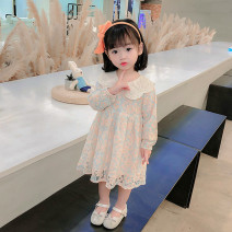 Dress White, orange, please take a big size female Tagkita / she and others 90cm,100cm,110cm,120cm,130cm Other 100% spring princess Long sleeves Broken flowers other A-line skirt c-336125 Class B Chinese Mainland
